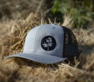 Black-and-Grey-trucker-hat-lane-creek-hemp-co-merchandise