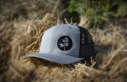 Black-and-Grey-trucker-hat-lane-creek-hemp-co-merchandise