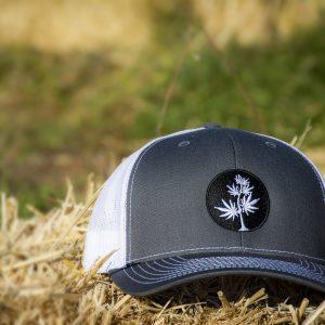 Black-and-White-Logo-trucker-hat-lane-creek-hemp-co-merchandise