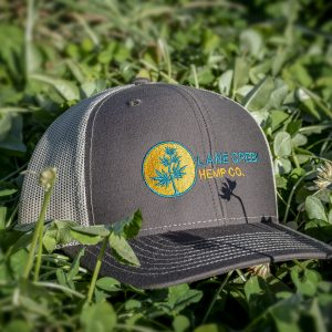 Gold-and-Blue-trucker-hat-lane-creek-hemp-co-merchandise
