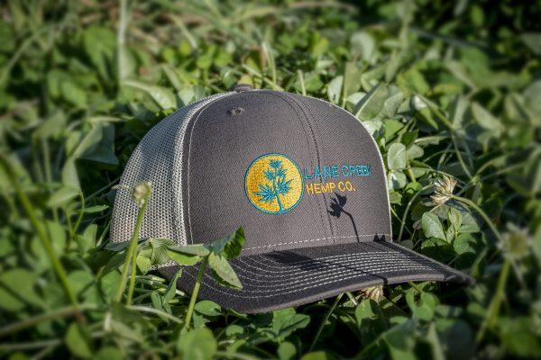 Gold-and-Blue-trucker-hat-lane-creek-hemp-co-merchandise